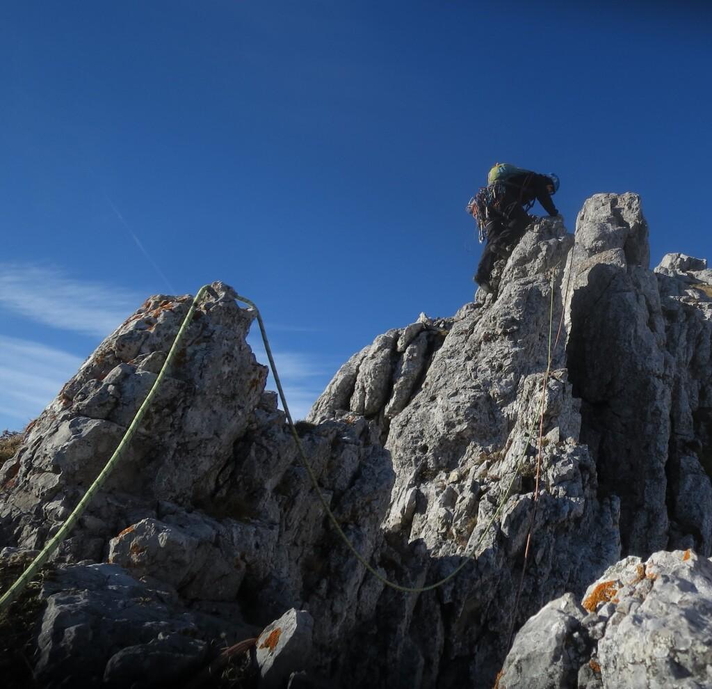 Zadnji metri grebena na Kordeževo glavo
